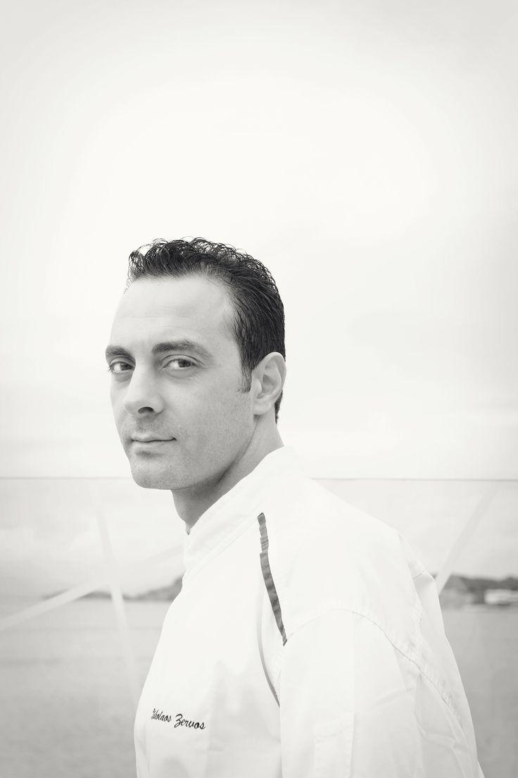 Chef Nikos Zervos at the Belvedere Restaurant, Mykonos