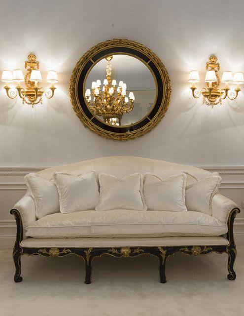 Ylellinen sisustus tyylikäs italialainen Neoclassic peili