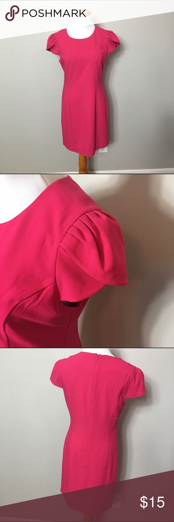 NWT tulip sleeve hot pink shift dress NWT tulip sleeve hot pink shift dress Forever 21 Dresses