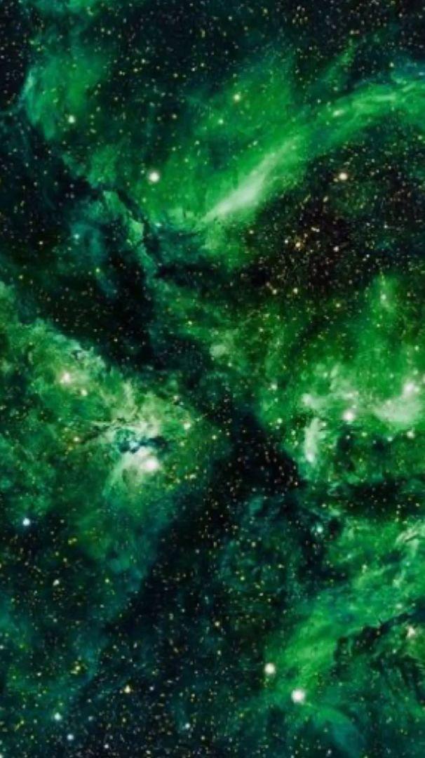Green Galaxy Motion Video Dark Green Aesthetic Green Aesthetic Iphone Wallpaper Green