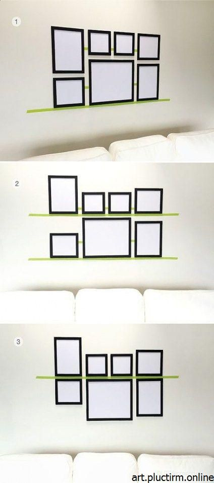 23+ Trendy wall decored above couch diy hanging pictures