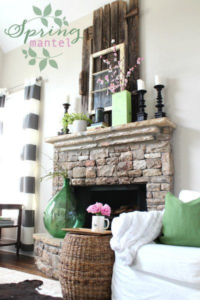 Spring Mantel At Mantels Decor And Home Decor