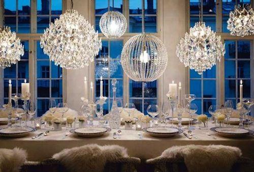 Varied chandeliers- pretty
