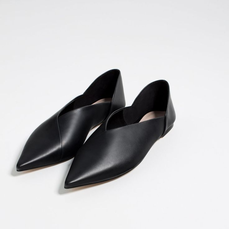 flat leather slingback shoescollectiontrfnew in zara