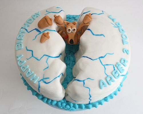Ice Age themed cake