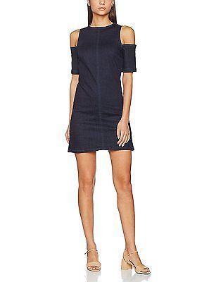 16, Blue, MISS SELFRIDGE Women's Cold Shoulder Denim Dress NEW