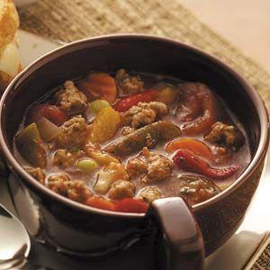 "Hot Italian Sausage Soup Recipe  ""My favorite soup other than Potato."""