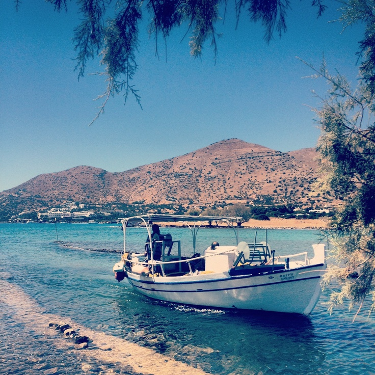 View from the canal bar. Elounda, Crete