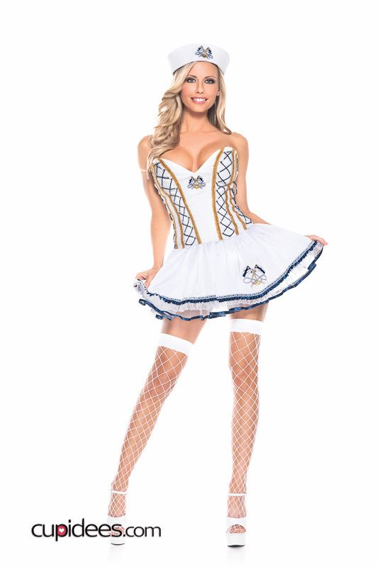 Sexy in White Sailor Costume - Cupidees.com