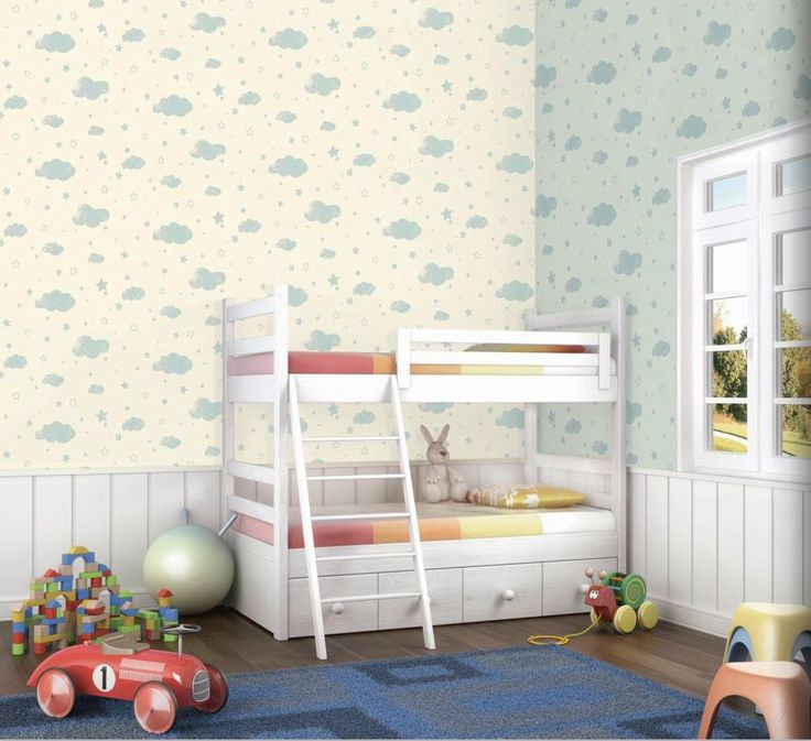 Halley 54603 Bulut Desenli Çocuk Odası Duvar Kağıdı