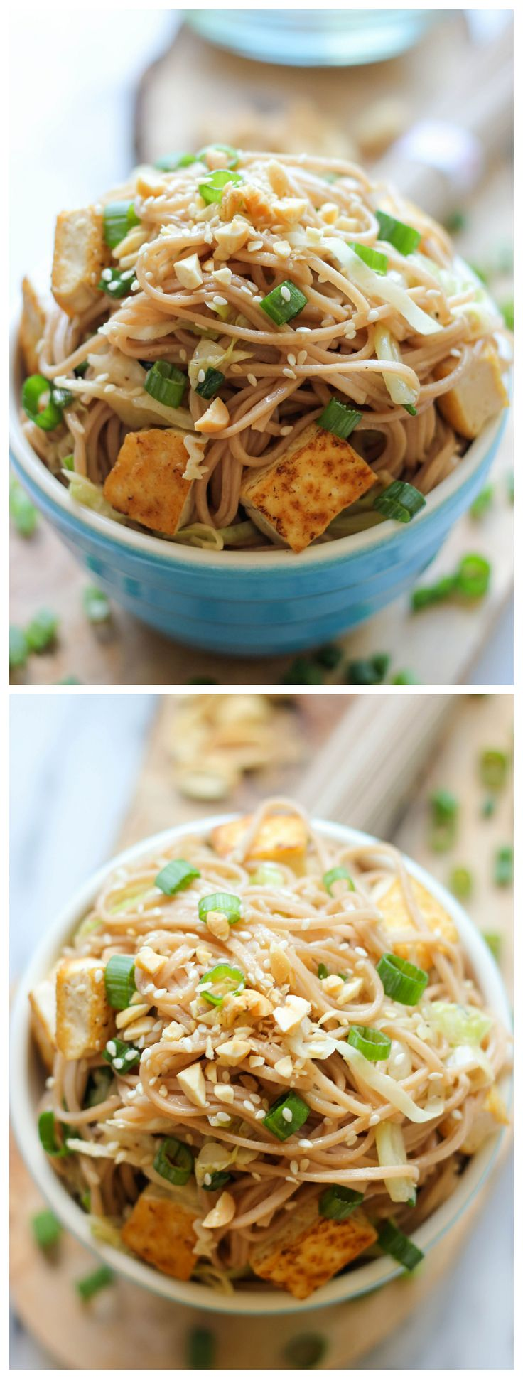 Tofu Soba Noodles - This quick and easy vegetarian noodle dish comes together in just 20 minutes! @Trent Butts-Ah Rhee