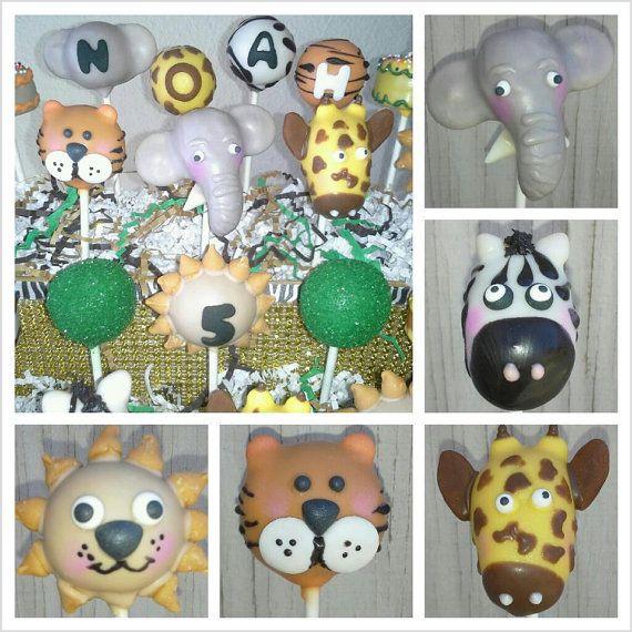 Zoo Animal Cake Pops Safari Animal Cake Pops by TheMaDCakePopShop, $36.00