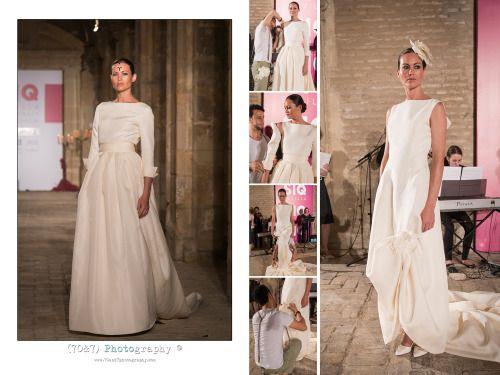 Transformación del diseño de novia de Daniel Carrasco  durante el pase de SIQ, Sevilla Monasterio de  San Jeronimo.  Fotografía; Alicia Nieto Velázquez (70&7) Photography