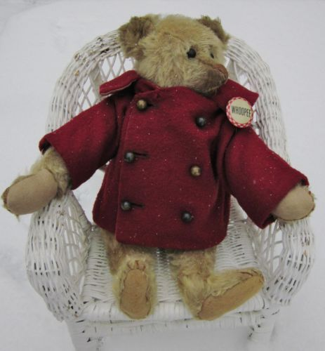 Very Old Antique Teddy Bear with Red Jecket | eBay
