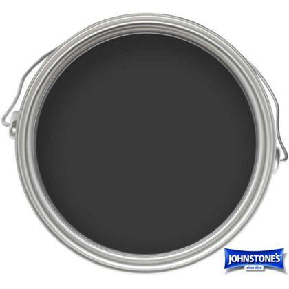 Johnstones Paint For Wood And Metal- Matt Black - 250ml
