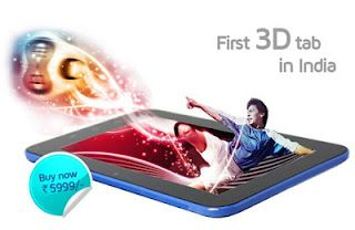 "Specifications & prices of ""India's First 3D Android Tablet"" Swipe 3D Life Tab X74 - Myblogbest.in : Social Media 