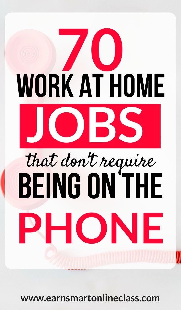 70+ legitime Nicht-Telefonarbeit von zu Hause aus …