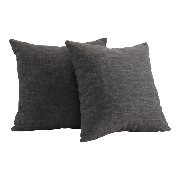 Back up option for gray throw pillows - Set of 2 18x18, $42.29, INSPIRE Q Clybourn 18-inch Grey Linen Toss Pillow (Set of 2)