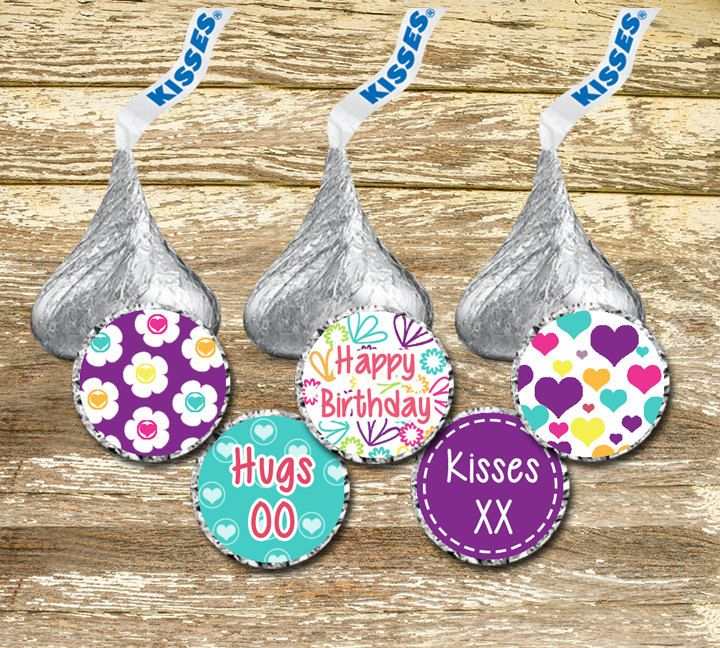 A personal favorite from my Etsy shop https://www.etsy.com/ca/listing/450052232/hershey-kisses-stickers-birthday-girl