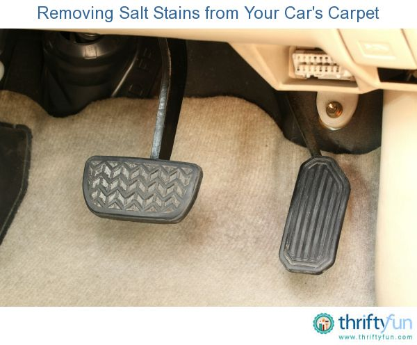 This is a guide about removing salt stains from your car's carpet. Winter, in many areas, means salt on the roads and unfortunately also on the carpet inside your car.