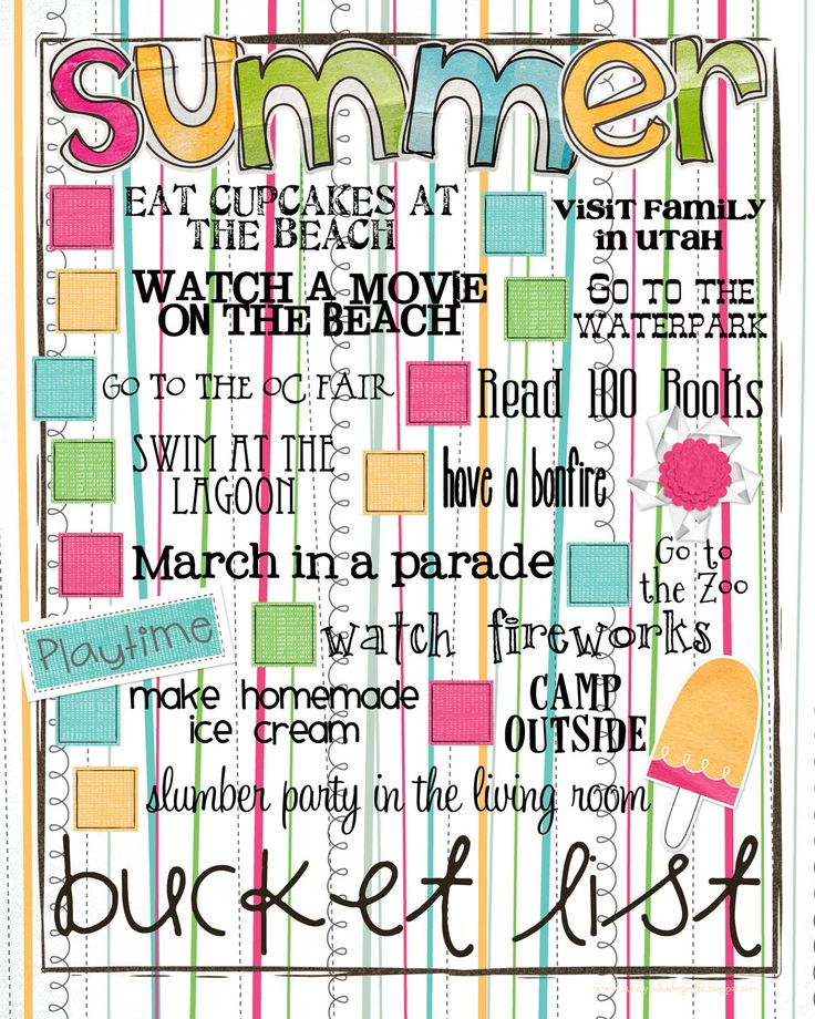 Summer Bucket ListSummer Bucketlist, Summer Bucket Lists, Funky Polkadot, 2013 Summer, Polkadot Giraffes, Lists 2013, Summer Buckets Lists, Summer Fun, Free Printables