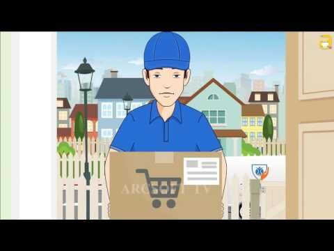Commercial ad Delivery Service Animation