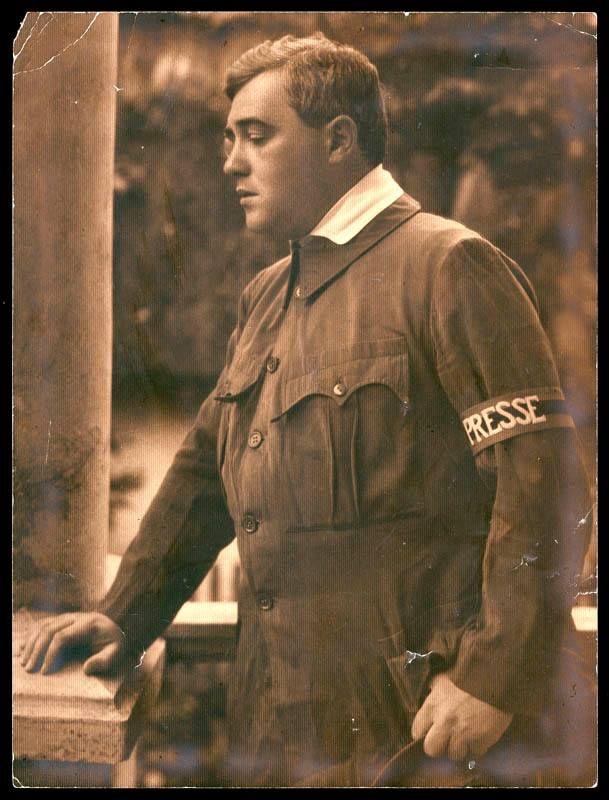 Molnár Ferenc mint haditudósító az I. világháború idején (ismeretlen fényképész felvétele