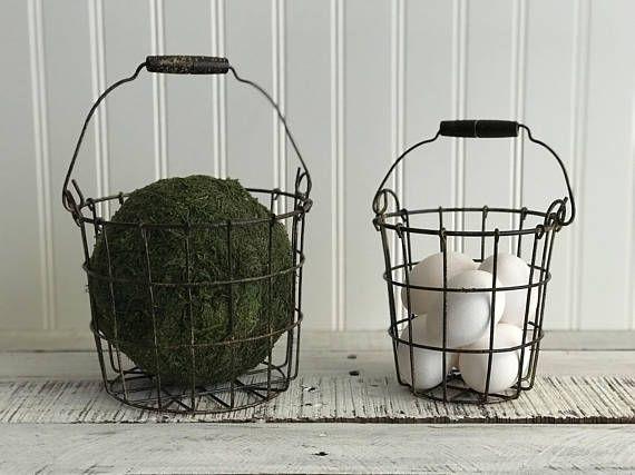 Mini Wire Basket | Farmhouse Decor |Mini Storage Basket | Storage and Organization |