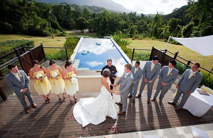 Pool side ceremony at Bali Hai, Mossman