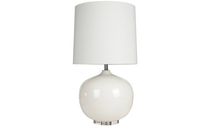 Mid century modern Cleaver (White) Lamp at Joybird