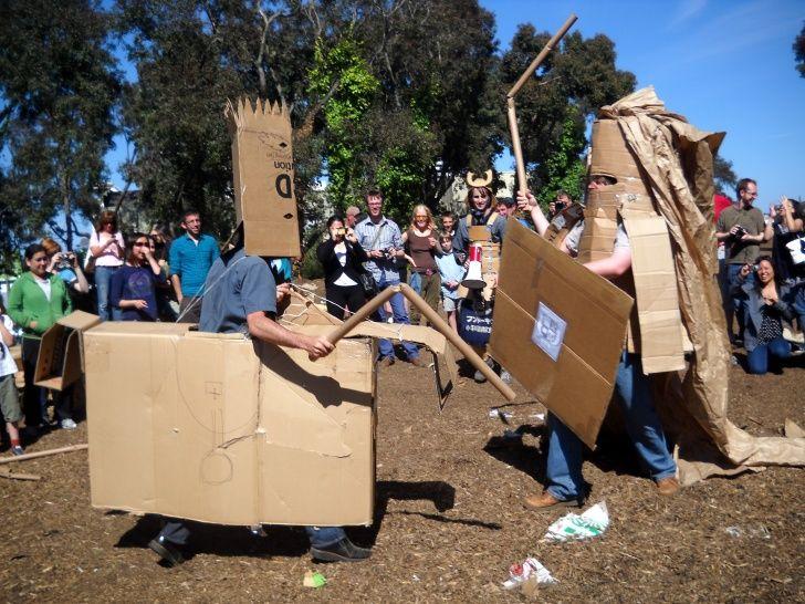 Cardboard Tube Dueling images