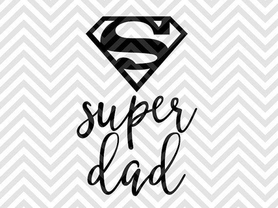 Super Dad Father's Day SVG file - Cut File - Cricut projects - cricut ideas - cricut explore - silhouette cameo projects - Silhouette projects by KristinAmandaDesigns