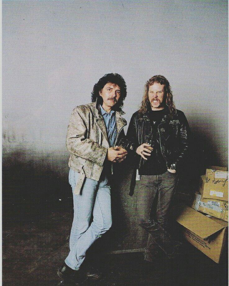 Tommy Iommi of Black Sabbath and James Hetfield of Metallica