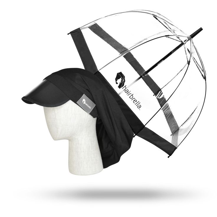 Hairbrella Classic Black & Signature Dome Umbrella