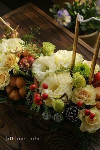 白いクリスマス http://ameblo.jp/flower-note/entry-10734975388.html