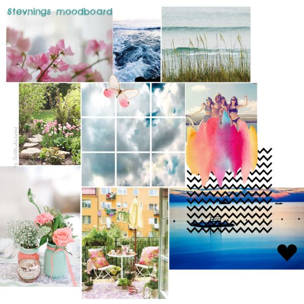 Moodboard by fargerertingen on Polyvore featuring art, Summer, sweet, Flowers, nature and Edventure
