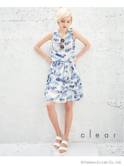 【2ndline】リゾートフラワーフレアスカートCl-0847(フレアスカート)|clear(クリア)|ファッションウォーカー