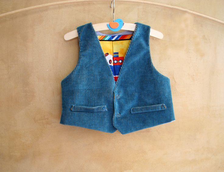 CLICK HERE TO BUY: https://www.etsy.com/listing/271559614/kids-dragon-vest-in-organic-cotton?ref=listing-shop-header-0 Kids Vest, #organiccotton, #stripedcotton, lined with purple ecosilk, size 4 years #size4years #fullylinedvest #kidsvest #jeansvest #gilet #dragonvest #handmadeinItaly #italianFashion www.etsy.com/shop/pabuita