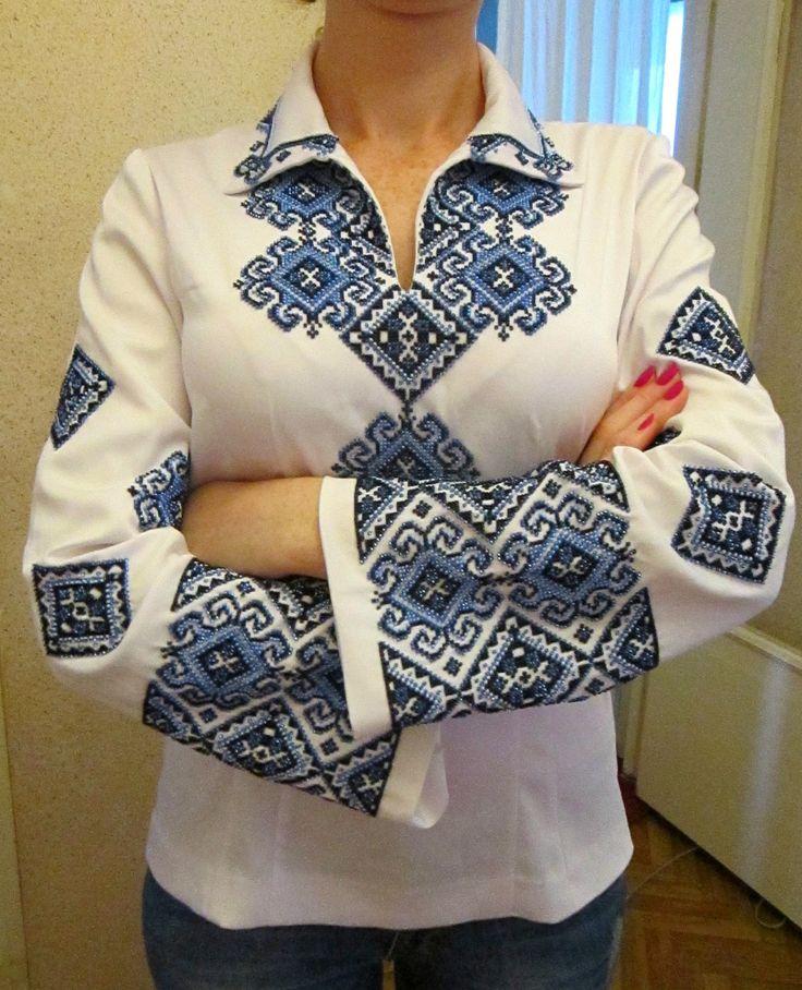 Ukrainian Beaded Blouse / Seed Beads Embroidery / Handmade BeadingTrend…