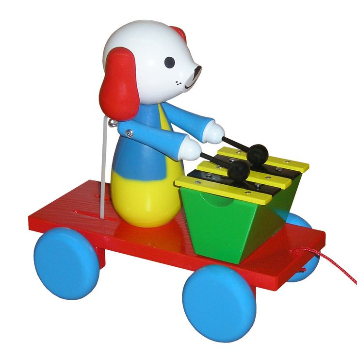 Wooden Pull Along Dog With Xylophone - Leo