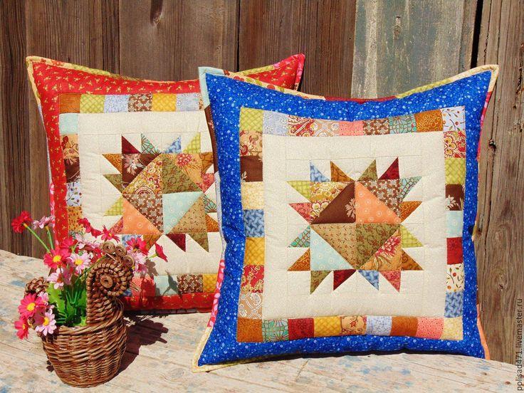 Купить Набор наволочек Раздолье - комбинированный, лоскутная подушка, лоскутные подушки, Лоскутные наволочки