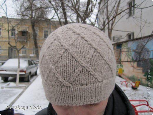 Вязание спицами - Мужская шапка