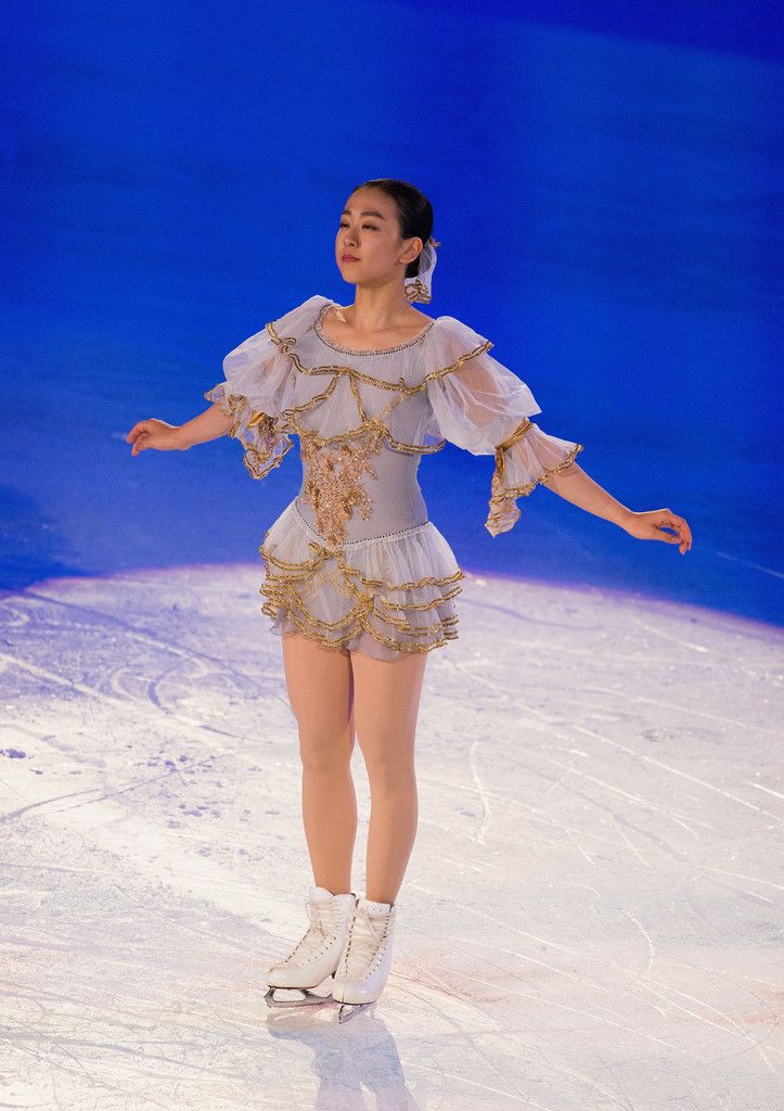 Mao Asada of Japan preforms at the Smucker's Skating Spectacular at 2016 Progressive Skate America at Sears Centre Arena on October 23, 2016 in Chicago, Illinois. (Photo by Tasos Katopodis/Getty Images) (723×1024)