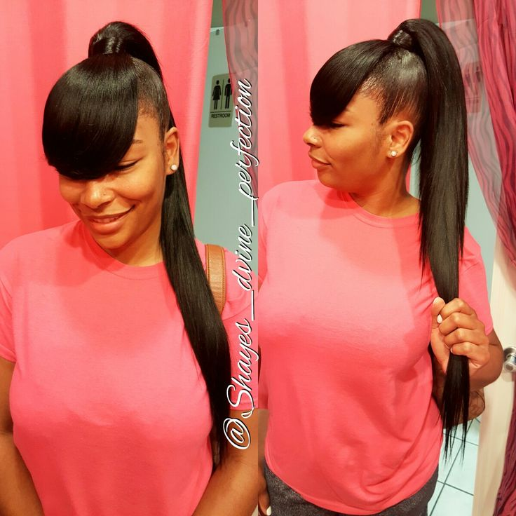 Extended Ponytail /Bangs (10 inch hair)   IG: Shayes_dvine_perfection FB: Shayes D'vine Perfection Book online at: www.styleseat.com/shalandawilliams2