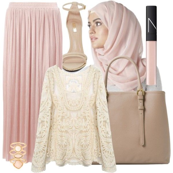 Gentle   Hijab by lunicornn on Polyvore featuring Dorothy Perkins, Jeffrey Campbell, MANGO, Monsoon and NARS Cosmetics