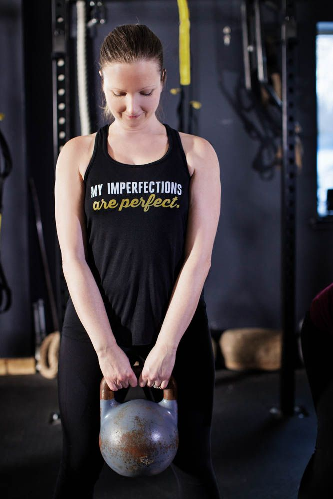 My Imperfections are Perfect | Women's Flowy Racerback Tank by ASSKICKER INK. $25.00 CAD