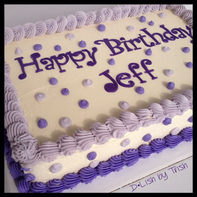 Buttercream Birthday Sheet Cake Birthday Cake Decorating