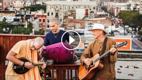 ROOFTOP MONKS (4 min video) A recent video we did in New York. Transcendental sound for our friends! Srila Prabhupada: His [the Supreme Lord's] existence can be realized by one who has the si…