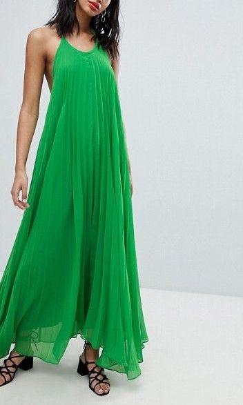 2c1afc394b Missguided Pleated Low Back Maxi Dress in 2018