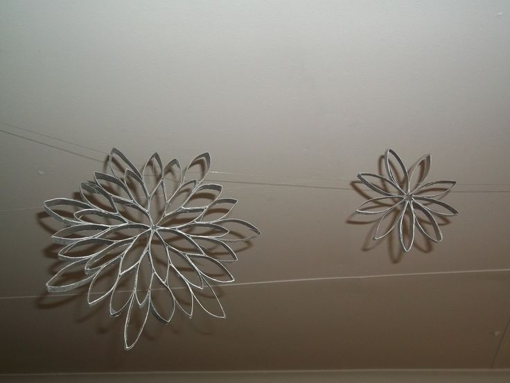 Decoration out of toilet rolls
